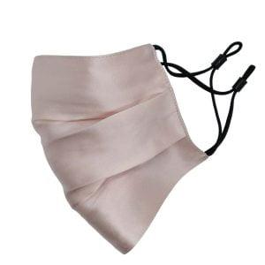 jedwabna maseczka ochronna różowa