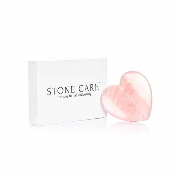 Kamień Płytka Serce Gua Sha z Kwarcu różowego