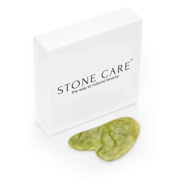 płytka gua sha z jadeitu + pudełko